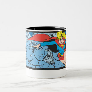 Supergirl Head Shots Two-Tone Coffee Mug