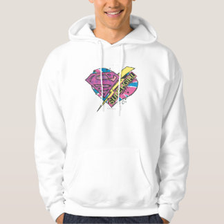 Supergirl Heart and Bolt Hoodie