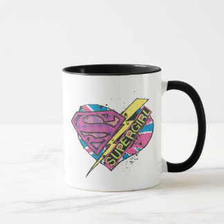 Supergirl Heart and Bolt Mug