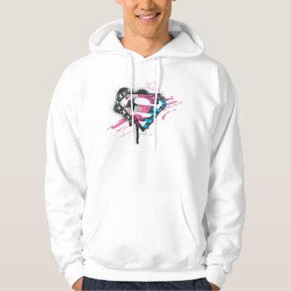 Supergirl Hearts Logo Hoodie
