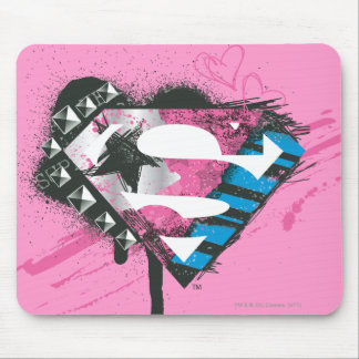 Supergirl Hearts Logo Mouse Mat