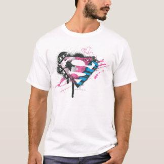 Supergirl Hearts Logo T-Shirt