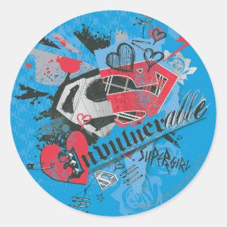 Supergirl Invulnerable Classic Round Sticker