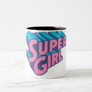 Supergirl J-Pop 10 Two-Tone Coffee Mug
