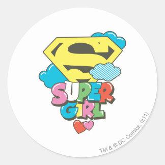 Supergirl J-Pop 5 Classic Round Sticker