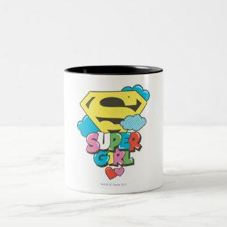 Supergirl J-Pop 5 Two-Tone Coffee Mug