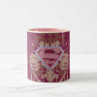 Supergirl Jewel Logo Two-Tone Coffee Mug