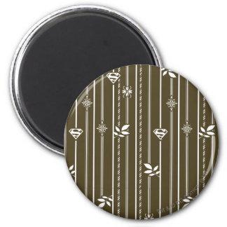 Supergirl Leaf Pattern Brown Magnet