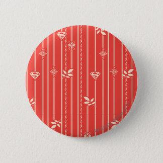 Supergirl Leaf Pattern Red 6 Cm Round Badge
