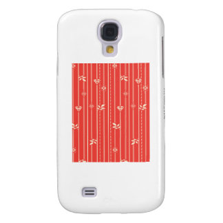 Supergirl Leaf Pattern Red Galaxy S4 Case