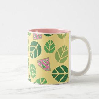 Supergirl Leaf Pattern Two-Tone Coffee Mug