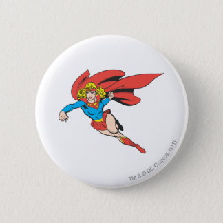 Supergirl Leaps and Punches 6 Cm Round Badge