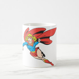 Supergirl Leaps and Punches Coffee Mug