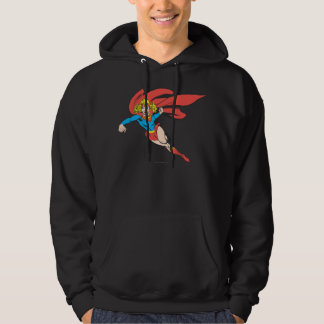 Supergirl Leaps and Punches Hoodie