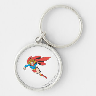 Supergirl Leaps and Punches Key Ring