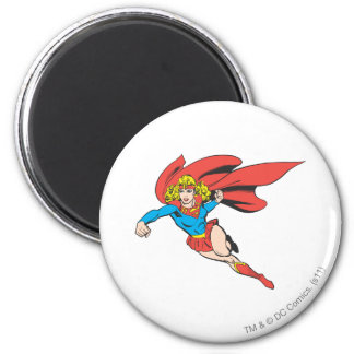 Supergirl Leaps and Punches Magnet