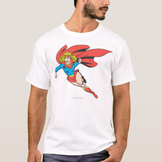 Supergirl Leaps and Punches T-Shirt