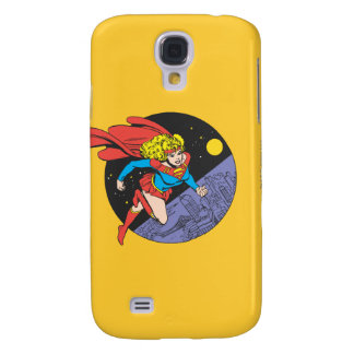 Supergirl Leaps in Space Galaxy S4 Case