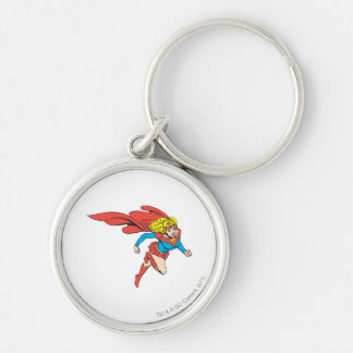 Supergirl Leaps Right Key Ring