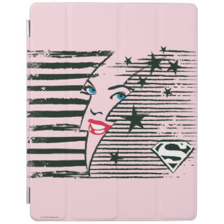 Supergirl Lightning With Face iPad Cover
