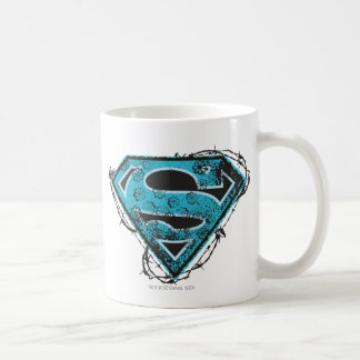 Supergirl Logo Barbed Wire and Flowers Basic White Mug