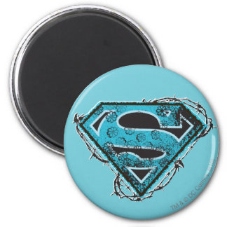 Supergirl Logo Barbed Wire and Flowers Magnet