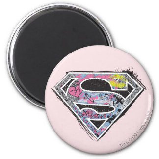 Supergirl Logo Collage Magnet