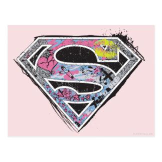 Supergirl Logo Collage Postcard