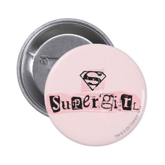 Supergirl Logo Ransom Note 6 Cm Round Badge