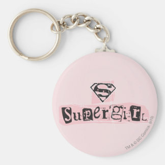 Supergirl Logo Ransom Note Key Ring