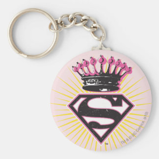 Supergirl Logo with Crown Key Ring