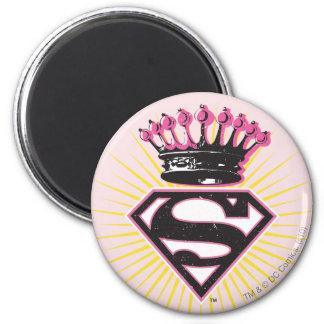 Supergirl Logo with Crown Magnet