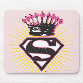 Supergirl Logo with Crown Mouse Pad