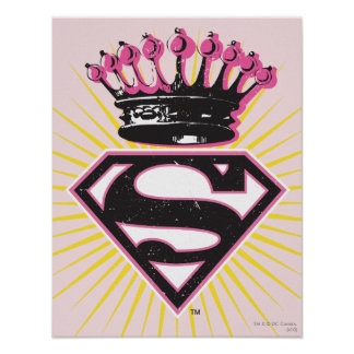 Supergirl Logo with Crown Poster