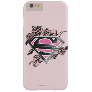 Supergirl Logo with Roses Barely There iPhone 6 Plus Case