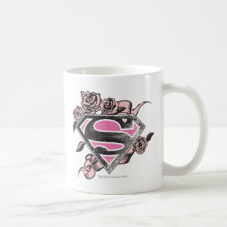 Supergirl Logo with Roses Coffee Mug
