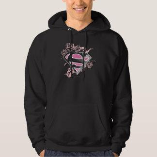 Supergirl Logo with Roses Hoodie