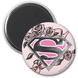 Supergirl Logo with Roses Magnet