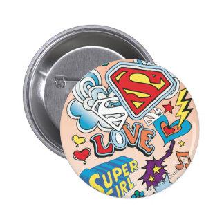 Supergirl Love 6 Cm Round Badge