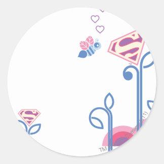Supergirl Love Bee Classic Round Sticker
