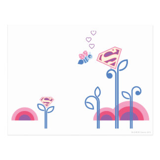 Supergirl Love Bee Postcard