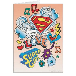 Supergirl Love Card