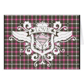 Supergirl Love Crest Card