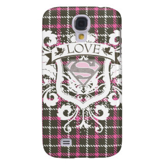 Supergirl Love Crest Galaxy S4 Case