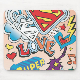 Supergirl Love Mouse Mat