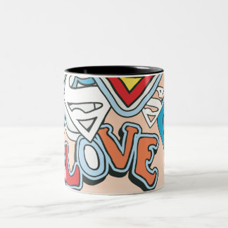 Supergirl Love Two-Tone Coffee Mug