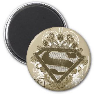 Supergirl Metropolis Ballet Brown 6 Cm Round Magnet