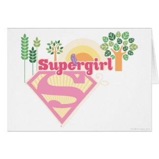 Supergirl Nature Logo Card