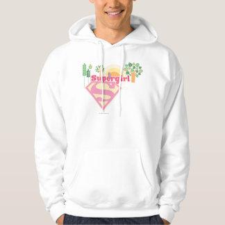 Supergirl Nature Logo Hoodie