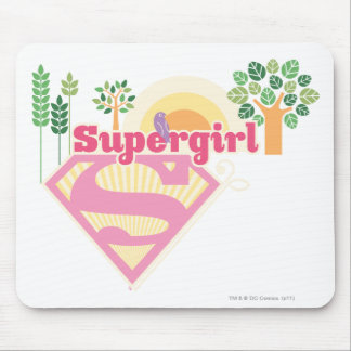 Supergirl Nature Logo Mouse Mat
